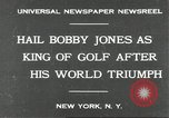 Image of Bobby Jones New York United States USA, 1930, second 2 stock footage video 65675066769