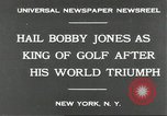 Image of Bobby Jones New York United States USA, 1930, second 5 stock footage video 65675066769