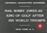 Image of Bobby Jones New York United States USA, 1930, second 7 stock footage video 65675066769