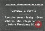 Image of new recruits Vienna Austria, 1930, second 1 stock footage video 65675066770