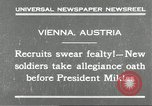 Image of new recruits Vienna Austria, 1930, second 2 stock footage video 65675066770