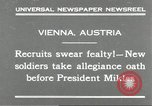 Image of new recruits Vienna Austria, 1930, second 3 stock footage video 65675066770