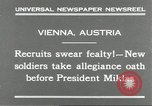 Image of new recruits Vienna Austria, 1930, second 5 stock footage video 65675066770