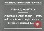 Image of new recruits Vienna Austria, 1930, second 7 stock footage video 65675066770