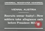 Image of new recruits Vienna Austria, 1930, second 8 stock footage video 65675066770