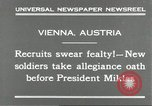 Image of new recruits Vienna Austria, 1930, second 9 stock footage video 65675066770