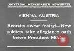 Image of new recruits Vienna Austria, 1930, second 10 stock footage video 65675066770