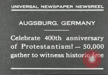 Image of 400th anniversary of Protestantism Augsburg Germany, 1930, second 2 stock footage video 65675066772