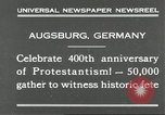 Image of 400th anniversary of Protestantism Augsburg Germany, 1930, second 3 stock footage video 65675066772