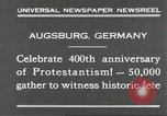 Image of 400th anniversary of Protestantism Augsburg Germany, 1930, second 4 stock footage video 65675066772