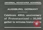 Image of 400th anniversary of Protestantism Augsburg Germany, 1930, second 7 stock footage video 65675066772