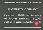 Image of 400th anniversary of Protestantism Augsburg Germany, 1930, second 8 stock footage video 65675066772