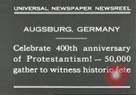 Image of 400th anniversary of Protestantism Augsburg Germany, 1930, second 9 stock footage video 65675066772