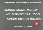 Image of municipal zoo Cincinnati Ohio USA, 1930, second 4 stock footage video 65675066773