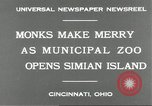 Image of municipal zoo Cincinnati Ohio USA, 1930, second 7 stock footage video 65675066773