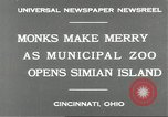 Image of municipal zoo Cincinnati Ohio USA, 1930, second 9 stock footage video 65675066773