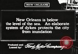 Image of system of dykes New Orleans Louisiana USA, 1917, second 3 stock footage video 65675066813
