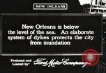 Image of system of dykes New Orleans Louisiana USA, 1917, second 4 stock footage video 65675066813