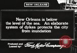 Image of system of dykes New Orleans Louisiana USA, 1917, second 5 stock footage video 65675066813