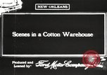 Image of cotton warehouse New Orleans Louisiana USA, 1917, second 2 stock footage video 65675066816