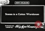 Image of cotton warehouse New Orleans Louisiana USA, 1917, second 4 stock footage video 65675066816