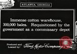 Image of cotton warehouses Atlanta Georgia USA, 1917, second 1 stock footage video 65675066819