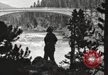 Image of Chittenden bridge crossing the Yellowstone River United States USA, 1917, second 8 stock footage video 65675066826