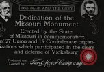 Image of Missouri Monument Vicksburg Mississippi USA, 1917, second 1 stock footage video 65675066850