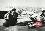 Image of Italian aircraft attacking Allied ships at sea Mediterranean Sea, 1942, second 10 stock footage video 65675066913