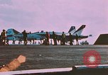 Image of F-18 A Hornet aircrfat Atlantic Ocean, 1986, second 1 stock footage video 65675066961