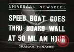 Image of speed boat Chicago Illinois USA, 1936, second 2 stock footage video 65675066981
