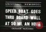 Image of speed boat Chicago Illinois USA, 1936, second 3 stock footage video 65675066981