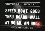 Image of speed boat Chicago Illinois USA, 1936, second 4 stock footage video 65675066981