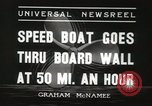 Image of speed boat Chicago Illinois USA, 1936, second 5 stock footage video 65675066981