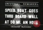 Image of speed boat Chicago Illinois USA, 1936, second 6 stock footage video 65675066981