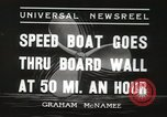 Image of speed boat Chicago Illinois USA, 1936, second 8 stock footage video 65675066981