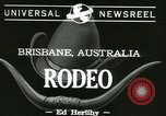 Image of rodeo event Brisbane Australia, 1944, second 5 stock footage video 65675067069