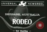 Image of rodeo event Brisbane Australia, 1944, second 6 stock footage video 65675067069