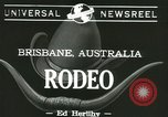 Image of rodeo event Brisbane Australia, 1944, second 7 stock footage video 65675067069