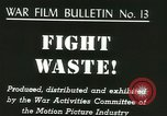 Image of Citizens asked to avoid waste at home United States USA, 1943, second 2 stock footage video 65675067070