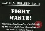 Image of Citizens asked to avoid waste at home United States USA, 1943, second 3 stock footage video 65675067070