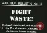 Image of Citizens asked to avoid waste at home United States USA, 1943, second 4 stock footage video 65675067070