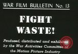 Image of Citizens asked to avoid waste at home United States USA, 1943, second 5 stock footage video 65675067070