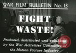 Image of Citizens asked to avoid waste at home United States USA, 1943, second 6 stock footage video 65675067070