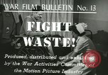 Image of Citizens asked to avoid waste at home United States USA, 1943, second 7 stock footage video 65675067070