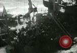 Image of USS LST-349 founders on rocks off Ponza Italy in storm Italy, 1944, second 10 stock footage video 65675067074
