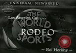 Image of rodeo Los Angeles California USA, 1944, second 5 stock footage video 65675067076