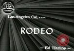 Image of rodeo Los Angeles California USA, 1944, second 8 stock footage video 65675067076