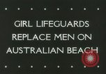 Image of women life guards New South Wales Australia, 1944, second 6 stock footage video 65675067082