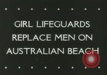 Image of women life guards New South Wales Australia, 1944, second 7 stock footage video 65675067082